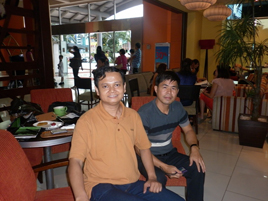 With Mr Chhay from Cambodia