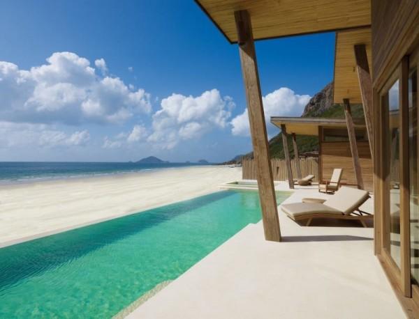 Bali Green Swimming Pool at Six Senses Resort Felicite Island
