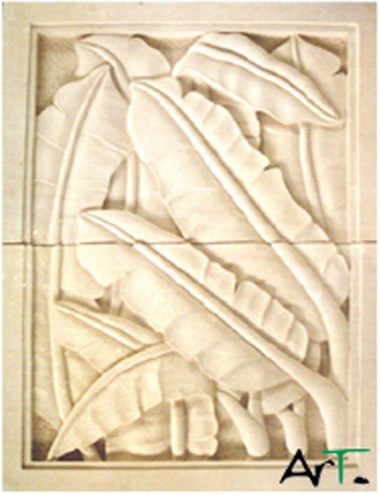 Banana Leaf carving2