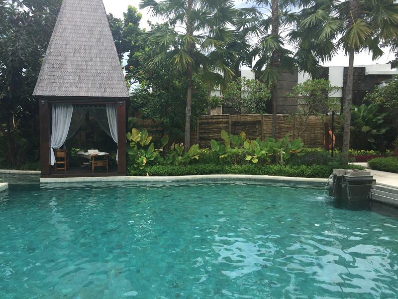 green stone at Bali resort