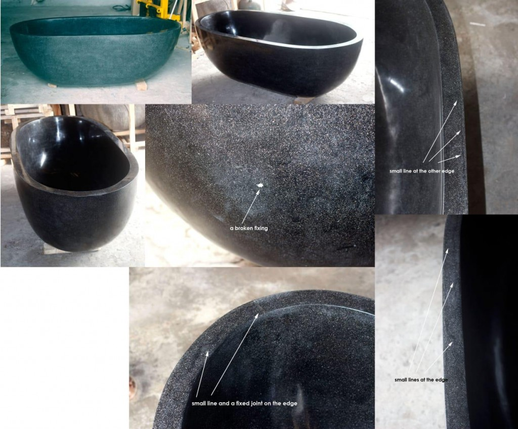 black terazzo bathtubs