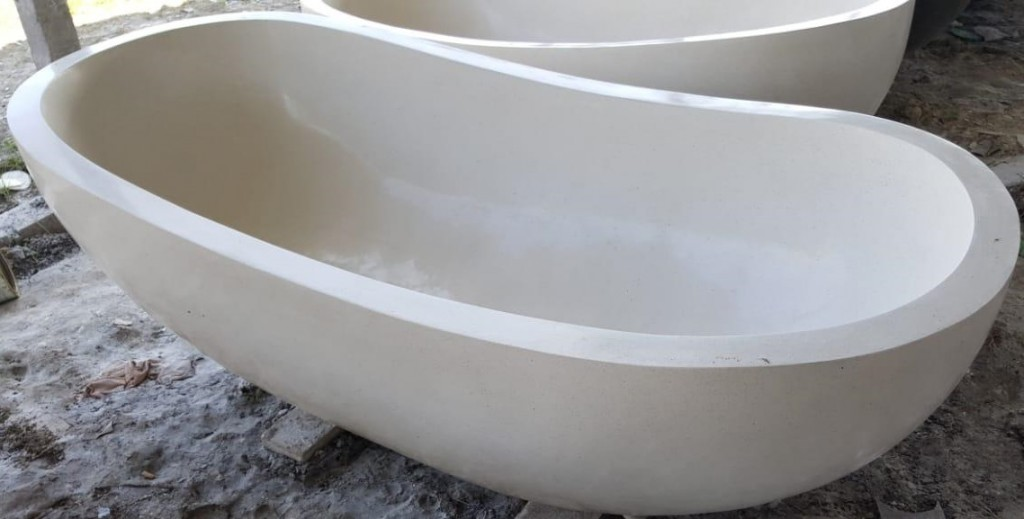 resin terazzo bathtub model