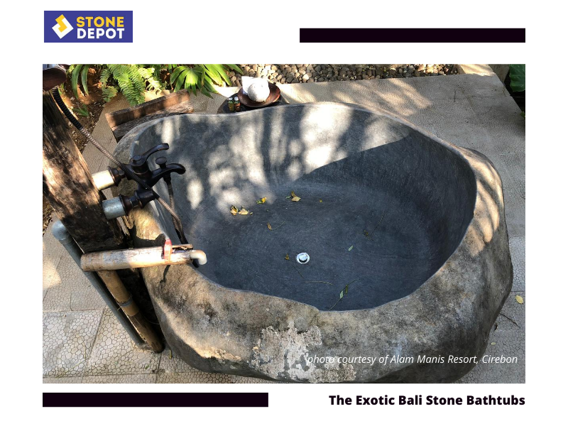 Bali Stone Bath – The Exotic of Bali Stone Bath for Romantic Bathroom Style