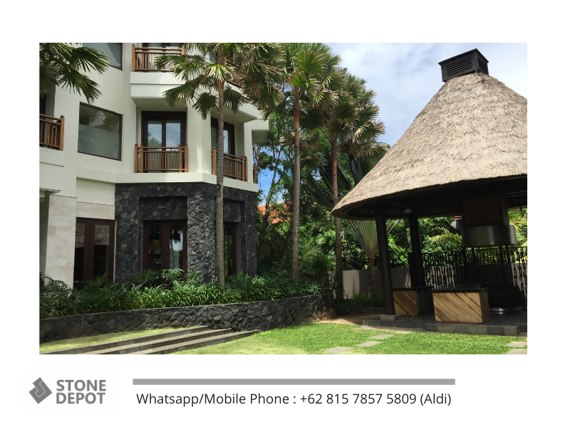 The Durable Bali Black Lava Stone Tiles for Tropical-House Style
