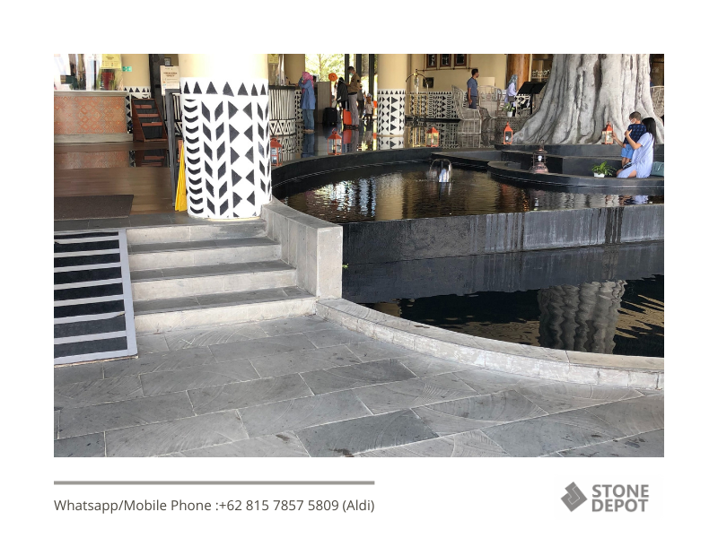 Looking for Something Special for Your Pavers? Try Grey Basalt Stone as the Baobab Safari Resort Do